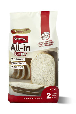 Wit brood budget 5x All in 1 kg.