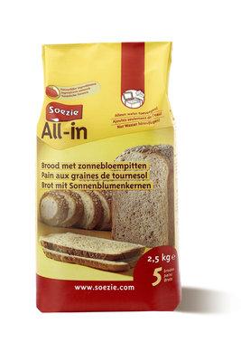 Brood met zonnebloempitten All in 2.5 kg