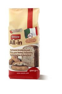 Italiaans kruidenbrood All in 500gr